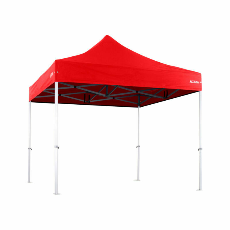 Altegra 3x3m Heavy Duty gazebo with Red UPF50+ canopy - Australia's iconic premium pop up tent for events - 50mm (58mm diag.) hexagonal aluminium legs locked together with aluminium joints.