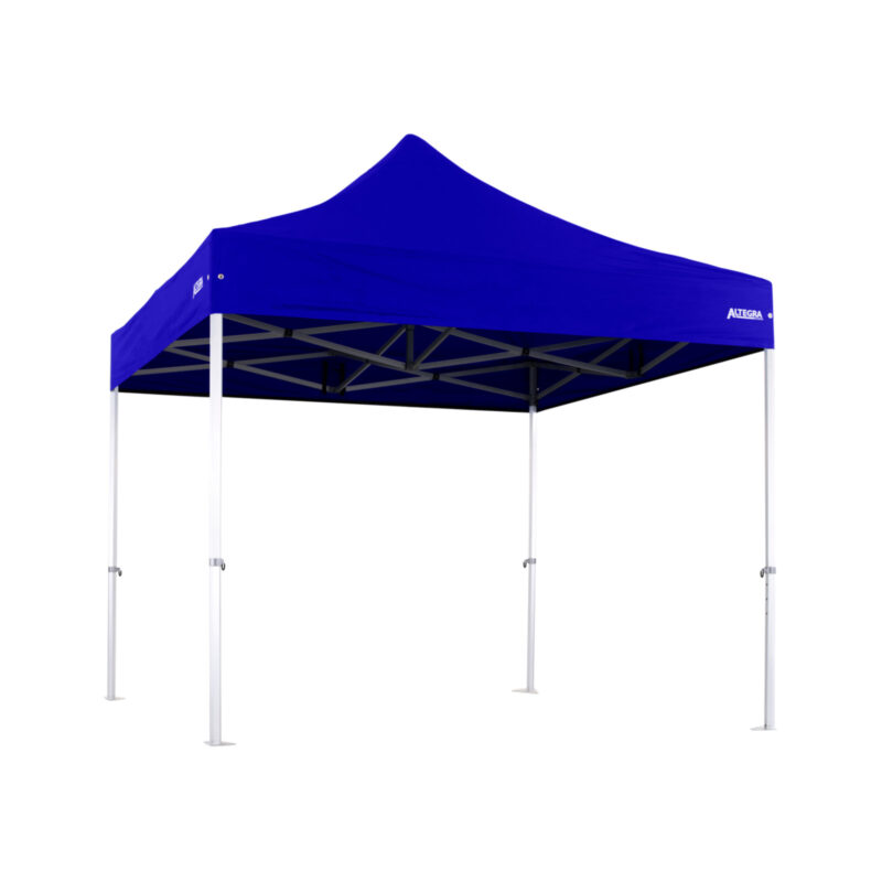 Altegra 3x3m Heavy Duty gazebo with Royal Blue UPF50+ canopy - Australia's iconic premium pop up tent for events - 50mm (58mm diag.) hexagonal aluminium legs locked together with aluminium joints.