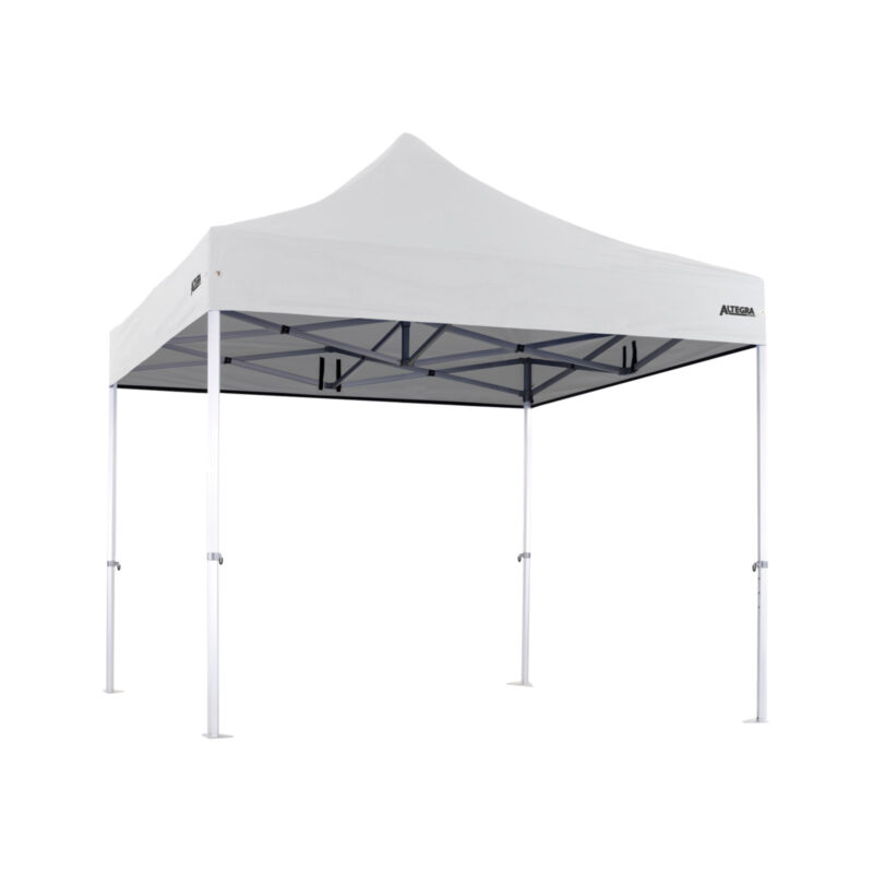 Altegra 3x3m Heavy Duty gazebo with White UPF50+ canopy - Australia's iconic premium pop up tent for events - 50mm (58mm diag.) hexagonal aluminium legs locked together with aluminium joints.