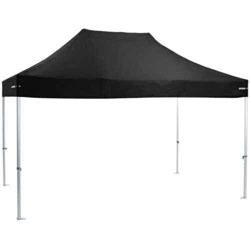 Altegra Heavy Duty 3x4.5m gazebo with black UPF50+ canopy - the dependable portable shade shelter for all Australian conditions.