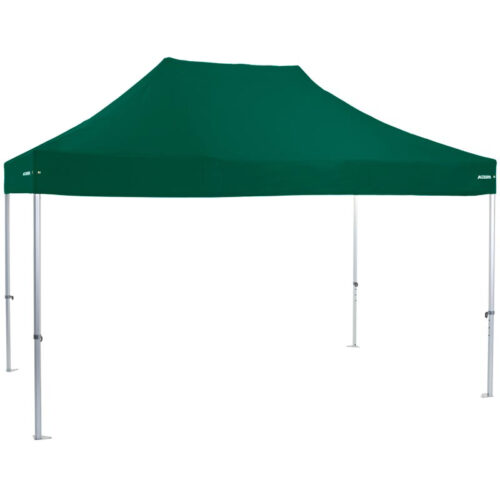 Altegra Heavy Duty 3x4.5m gazebo with green UPF50+ canopy - the dependable portable shade shelter for all Australian conditions.