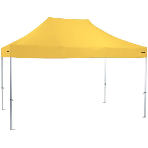 Altegra Heavy Duty 3x4.5m gazebo with Yellow UPF50+ canopy - the dependable portable shade shelter for all Australian conditions.
