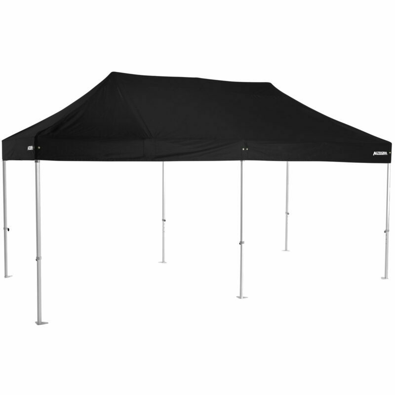 Altegra Heavy Duty 3x6m folding marquee with black UPF50+ canopy - Australia's premium folding aluminium event marquees constructed to deliver dependability and comprehensive protection.