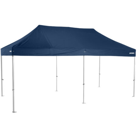 Altegra Heavy Duty 3x6m folding marquee with navy blue UPF50+ canopy - Australia's premium folding aluminium event marquees constructed to deliver dependability and comprehensive protection.