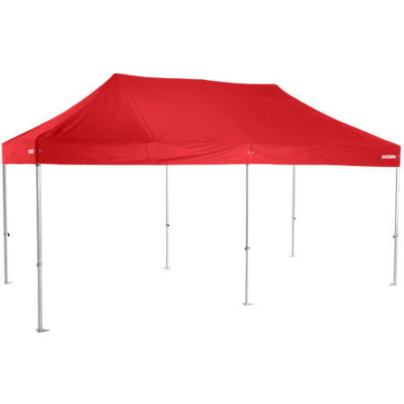 Altegra Heavy Duty 3x6m folding marquee with red UPF50+ canopy - Australia's premium folding aluminium event marquees constructed to deliver dependability and comprehensive protection.
