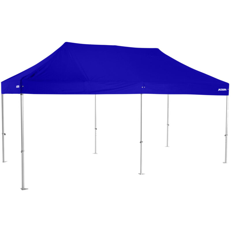 Altegra Heavy Duty 3x6m folding marquee with royal blue UPF50+ canopy - Australia's premium folding aluminium event marquees constructed to deliver dependability and comprehensive protection.
