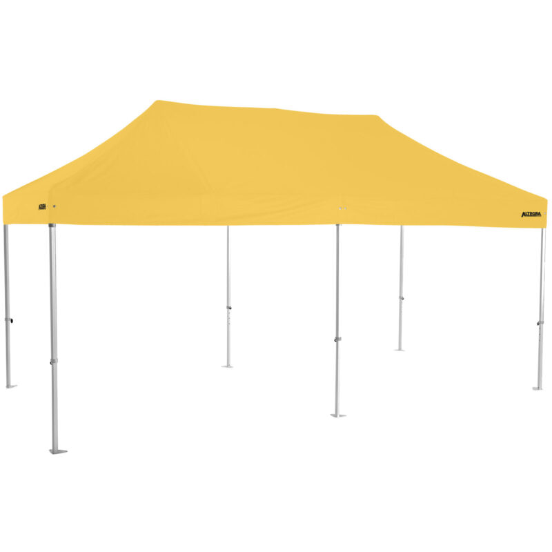 Altegra Heavy Duty 3x6m folding marquee with yellow UPF50+ canopy - Australia's premium folding aluminium event marquees constructed to deliver dependability and comprehensive protection.