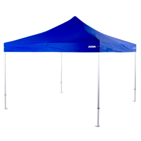 Altegra Heavy Duty 4x4m folding marquee in blue - a 50mm aluminium marquee frame with full reinforcing and UPF50+ canopy make the heavy duty 4x4m marquee from Altegra the professional's choice.