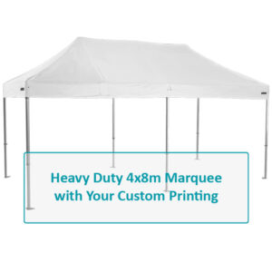 Altegra Heavy Duty 3x6m Folding Marquee custom canopy image - select the panels for custom branding of your 3x6m heavy duty marquee.