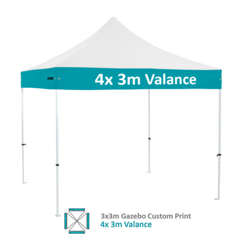 Altegra Premium Steel 3x3m gazebo with vivid custom printed canopy - 4x 3m pitch printed option.