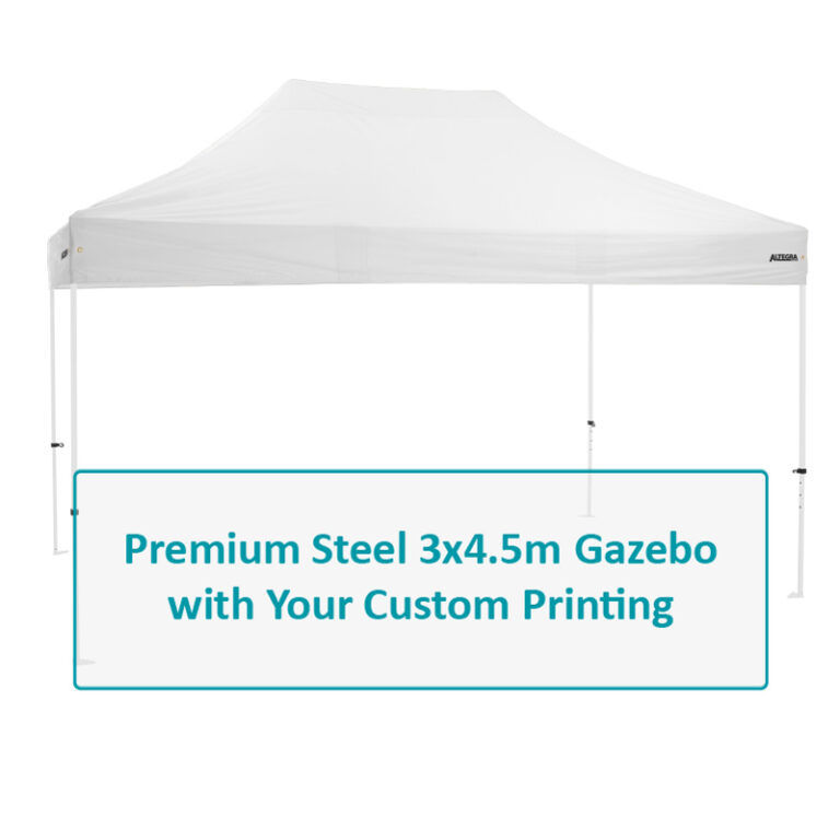 Altegra Premium Steel 3x4.5m affordable custom printed gazebo