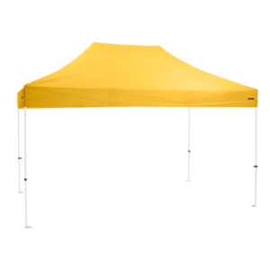 Altegra Premium Steel 3x4.5m gazebo with yellow UPF50+ canopy - Australia's affordable premium 3x4.5m gazebo with 3-year warranty.