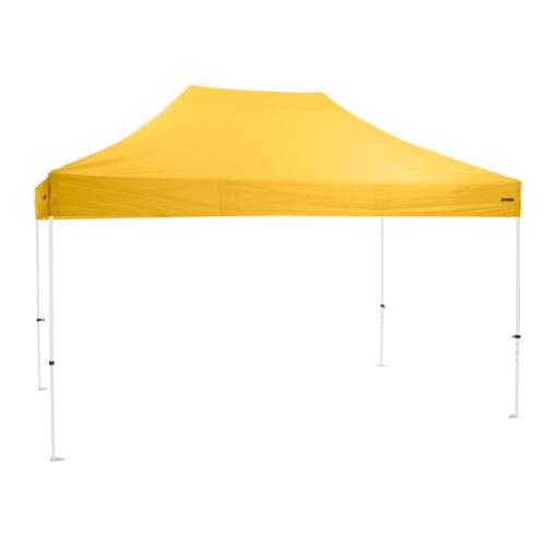 Altegra Premium Steel 3x4.5m gazebo with yellow UPF50+ canopy - Australia's affordable premium 3x4.5m gazebo with 3-year warranty.