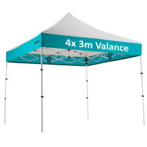 "Altegra Premium Steel ""Compact"" 3x3m Gazebo with custom canopy printing - 4x3m valance print"