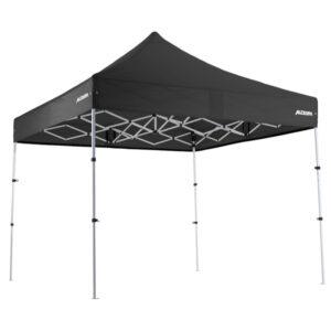 Altegra Premium Steel Compact 3x3m gazebo with Black UPF50+ canopy.