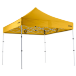 Altegra Premium Steel Compact 3x3m Instant Gazebo - our internationally awarded Australian compact pop up gazebo innovation with yellow UPF50+ canopy.