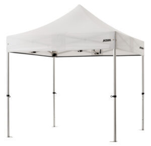 Altegra Pro Lite aluminium 2.4x2.4m gazebo with white UPF50+ sun protection rated waterproof canopy - our lightweight Pro Lite 2.4m gazebo carries a Lifetime Warranty to keep you and your family safe for many years!