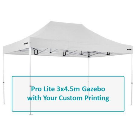 Altegra Pro Lite 3x4.5m lightweight gazebo Custom Printed canopy image - Full custom canopy printing for your brand, club, or team