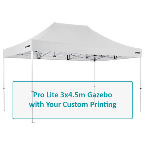 Altegra Pro Lite 3x4.5m lightweight gazebo Custom Printed canopy image - Full custom canopy printing for your brand, club, or team