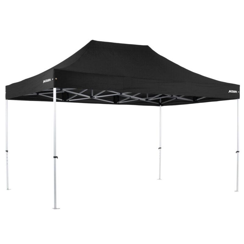 Altegra Pro Lite 3x4.5m lightweight aluminium gazebo with black UPF50+ canopy.