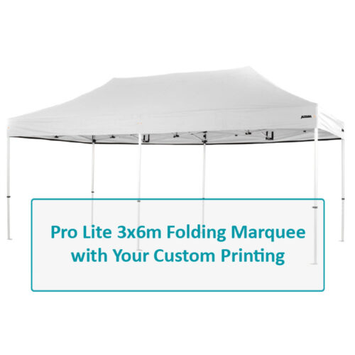 Altegra Pro Lite 3x6m Marquee Custom Printed canopy image - Full custom canopy printing for your brand, club, or team