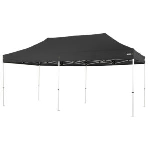 Altegra Pro Lite 3x6m folding marquee with black UPF50+ canopy - the lightweight folding event marquee with full Australian event compliance.