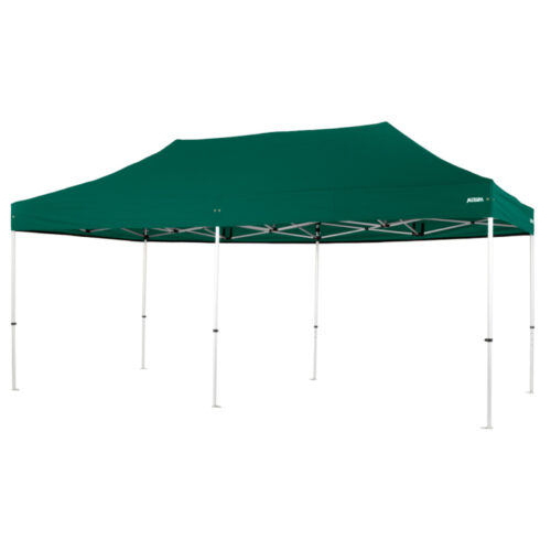 Altegra Pro Lite 3x6m folding marquee with Green UPF50+ canopy - the lightweight folding event marquee with full Australian event compliance.