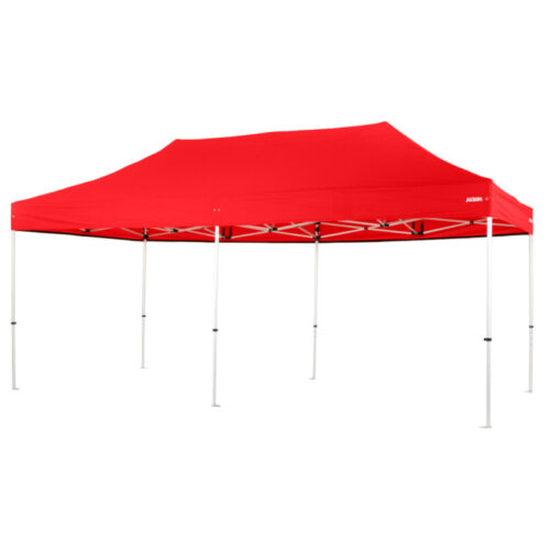 Altegra Pro Lite 3x6m folding marquee with Red UPF50+ canopy - the lightweight folding event marquee with full Australian event compliance.