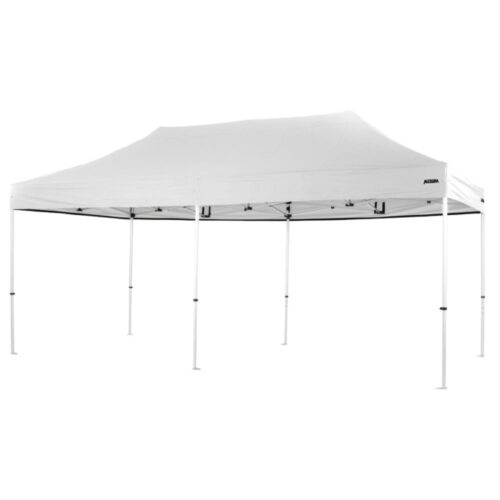 Altegra Pro Lite 3x6m folding marquee with White UPF50+ canopy - the lightweight folding event marquee with full Australian event compliance.