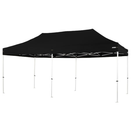 Altegra Pro Lite 3x6m marquee with black UPF50+ canopy - a lighter 3x6m event marquee.