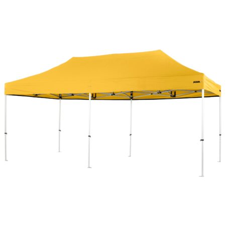 Altegra Pro Lite 3x6m marquee with yellow UPF50+ canopy - a lighter 3x6m event marquee.