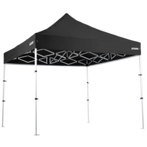 "Altegra Pro Lite ""Compact"" 3x3m lightweight gazebo with Black UPF50+ canopy - our international award winning advanced aluminium 3x3m gazebo that packs down to a tiny 93cm. The best compact gazebo in Australia."