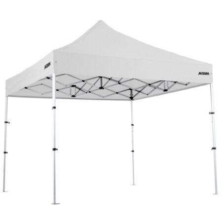 Altegra Pro Lite light aluminium compact 3x3m gazebo with white UPF50+ canopy image