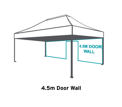 Altegra 4.5m Wall with door - 3m x 4.5m gazebo/marquee