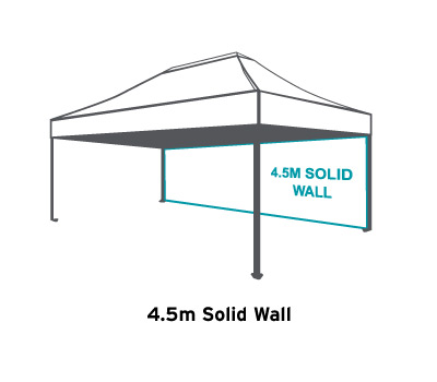Altegra 4.5m Plain Wall - 3m x 4.5m Marquee/Gazebo