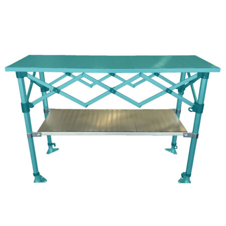 Altegra 1.5m Folding Table Shelf - a fitted accessory to increase the versatility and usefulness of our 1.5m aluminium folding table.