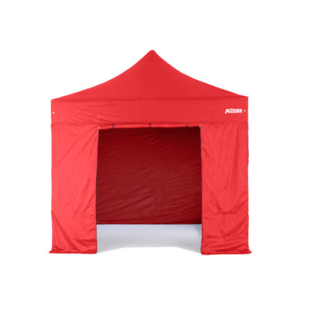 Altegra 3m Door Wall - gazebo with walls and door in red - UPF50+ sun protective gazebo walls fit seamlessly to the Altegra Elite canopy.