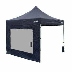 Altegra 3m Window Wall - to add UPF50+ waterproof protection and added comfort to our 3x3m gazebo range - pictured in black