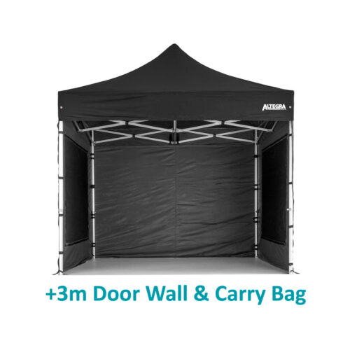 Altegra 3x3m Gazebo wallkit - full gazebo wall protection from the elements with our UPF50+ sun protection and 100% waterproof fabric. Our 3x3m gazebo wallkit contains 2x 3m window walls, 1x 3m solid wall, and 1x 3m door wall.