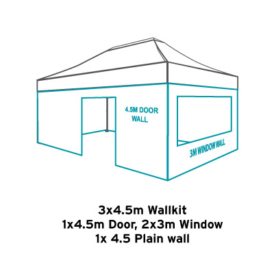 Altegra 3x4.5m gazebo wallkit icon