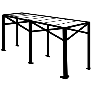 Altegra Aluminium folding table icon