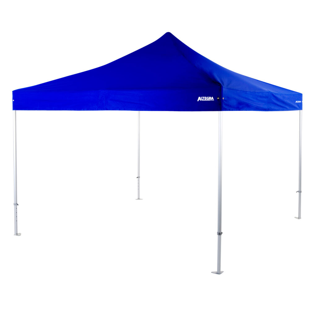Altegra Heavy Duty 4x4m Marquee in Royal Blue - our large span square event marquee for modular event setups.