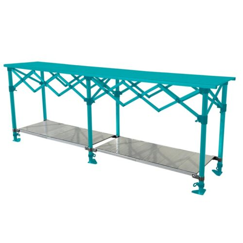 Altegra Aluminium 3m Table shelves - Store more on your 3m folding table with our added shelves, nestled neatly underneath and height adjustable.