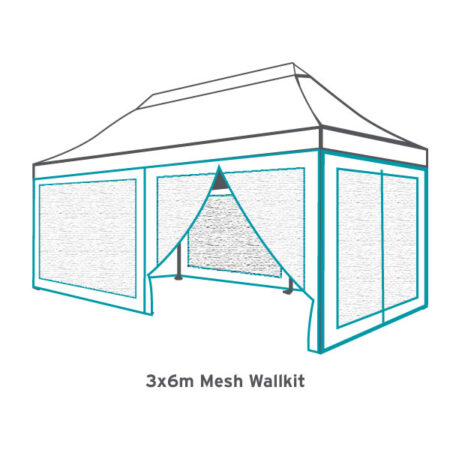 Altegra 3x6m mesh wall kit - bug-proof mesh walls to seal bugs out of your 3x6m Altegra marquee.