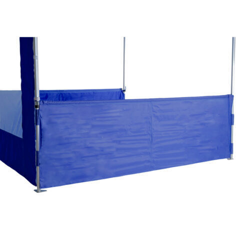 Altegra 3m half wall kit in royal blue - gazebo half wall to divide your internal marquee space from your customers.