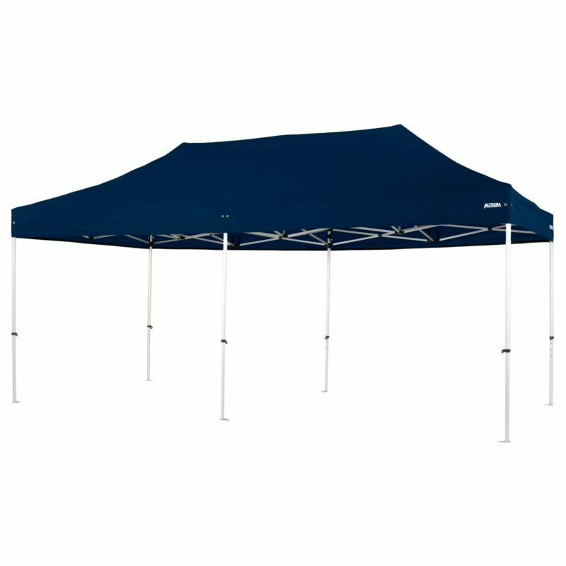 Altegra Pro Lite 3x6m marquee with navy blue UPF50+ canopy - a lighter 3x6m event marquee.