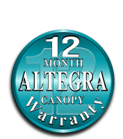 Altegra 12-month canopy warranty icon - leading marquee warranties
