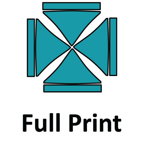 Altegra custom printed 3x3m gazebo - printed canopy panel icons - Full Custom Print