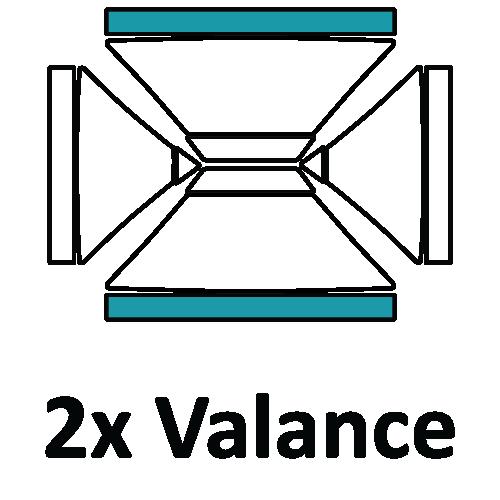 Altegra custom printed 3x4.5m gazebo - printed canopy panel icons - 2 x 4.5m Valance