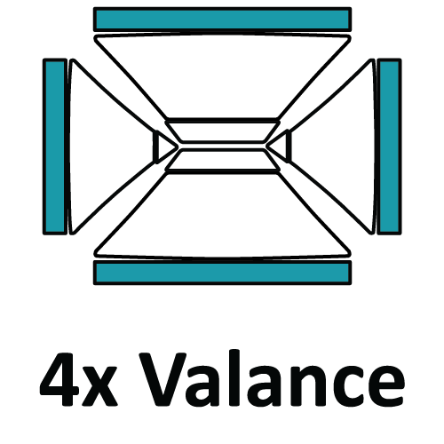 Altegra custom printed 3x4.5m gazebo - printed canopy panel icons - 4 x Valance